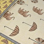 Molly Beautiful Elephant and Umbrella Print Double Bed Sheet Lookout