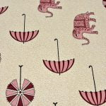 Molly Beautiful Pink Colour Elephant and Umbrella Print Double Bed Sheet Lookout