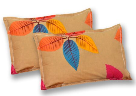 Multicolor Petals Premium Poly Cotton Double Bedsheet Pillow Cover Set