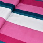 Pink Shade Lining Poly Double Bedsheet Close up