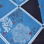 Refreshing Blue Poly Cotton Double Bedsheet lookout