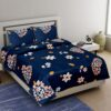 Royal Blue Super Soft Premium Quality Poly Cotton Double Bedsheet