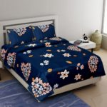 Royal Blue Super Soft Premium Quality Poly Cotton Double Bedsheet