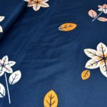 Royal blue Super Soft Premium Poly Cotton double bedsheet close up