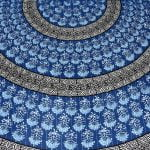 Saffron Blue Circle of Life Black Border Double Bed Sheet Lookout