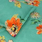 Smooth Floral Premium Poly Cotton Double Bedsheet Closeup