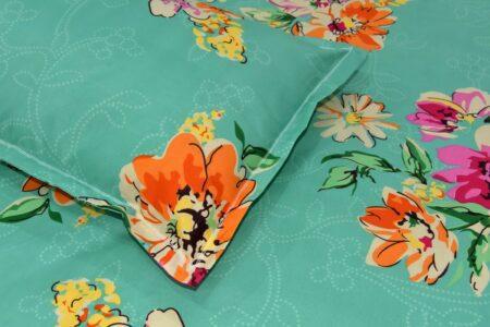 Smooth Floral Premium Poly Cotton Double Bedsheet Closeup