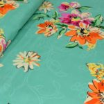 Smooth Floral Premium Poly Cotton Double Bedsheet Lookout