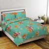 Smooth Floral Premium Poly Cotton Double Bedsheet with 2 Pillow Cover Set