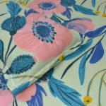 Soft Floral Poly Cotton Double Bedsheet Closeup