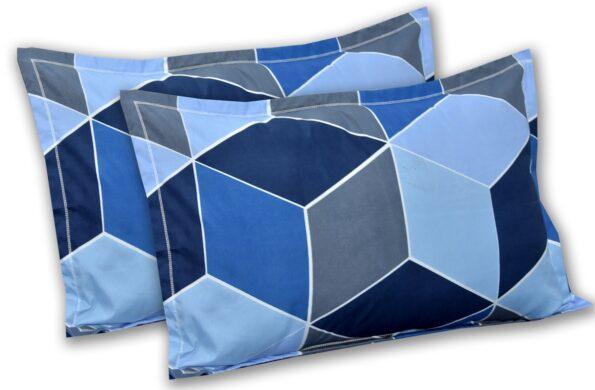 Super Sober Poly Cotton Double Bedsheet Pillow Cover Set