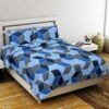 Super Sober Poly Cotton Double Bedsheet with 2 Pillow Cover Set