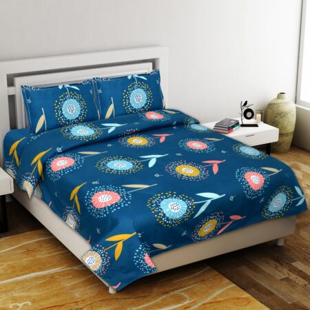 Super Soft Premium Poly Cotton Double Bedsheet