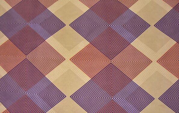 The Brown Square Poly Cotton Double Bedsheet Closeup