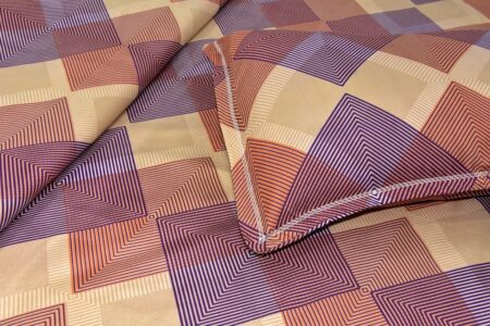 The Brown Square Poly Cotton Double Bedsheet Look out