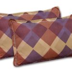 The Brown Square Poly Cotton Double Bedsheet Pillow Cover Set