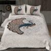 Twill Dancing Peacock King Size Double Bedsheet