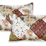 Twill Multicolor Floral Geometric Double Bedsheet Pillow Cover Set