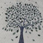 Twill White Base Kadi Print Rajasthani Buta Hand Block Print With Tree Design Super Fine Cotton Double Bed Sheet Closeup