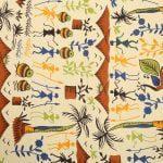 Beautiful Dancing Tradition Yellow Border Single Bed Sheet Closeup