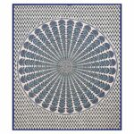 Blue Mandala Tapestry King Size Pure Cotton Double Bedsheet Full view