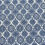 Ethnic Jaipuri Charm Blue Double Bed Sheet Look out