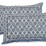 Ethnic Jaipuri Charm Blue Double Bed Sheet