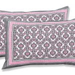 Ethnic Jaipuri Charm Pink Double Bed Sheet Pillow