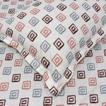 Rosee Small Multi Square Shape Red Color Double Bed Sheet Pillow