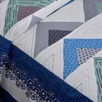 Rosee Triangle Shape Blue Color Double Bed sheet Closeup
