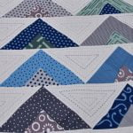 Rosee Triangle Shape Blue Color Double Bed sheet Design