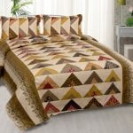 Rosee Triangle Shape Brown Color Double Bed sheet
