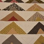 Rosee Triangle Shape Brown Color Double Bed sheet Design