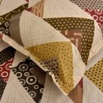 Rosee Triangle Shape Brown Color Double Bed sheet Pillow