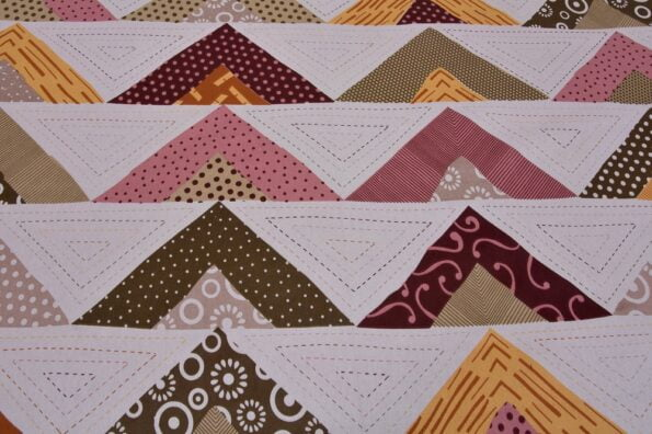 Rosee Triangle Shape Maroon Color Double Bed sheet Design