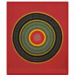 Traditional Sanganeri Bandhej Print Red Color King Size Pure Cotton Double Bedsheet Closeup