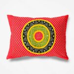 Traditional Sanganeri Bandhej Print Red Color King Size Pure Cotton Double Bedsheet Pillow