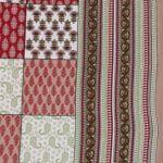 Traditional Sanganeri Block Print Brown Color King Size Pure Cotton Double Bedsheet Closeup