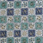 Traditional Sanganeri Floral Print Blue Color Box Shape King Size Double Bed Sheet Closeup