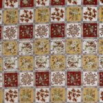 Traditional Sanganeri Floral Print Red Color Box Shape King Size Double Bed Sheet
