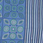 Traditional Sanganeri Print Blue Color MultiShape King Size Double Bed Sheet Closeup