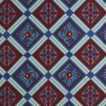 Traditional Sanganeri Print Blue color King Size Pure Cotton Double Bedsheet Closeup