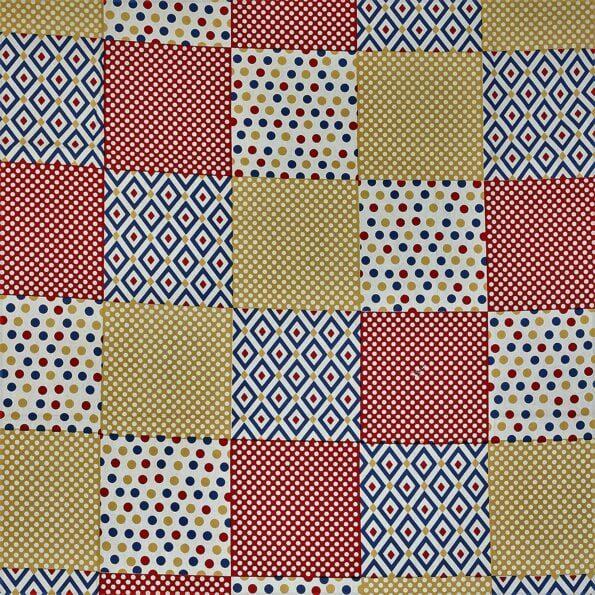 Traditional Sanganeri Print Brown Border Square Shape King Size Double Bed Sheet Closeup