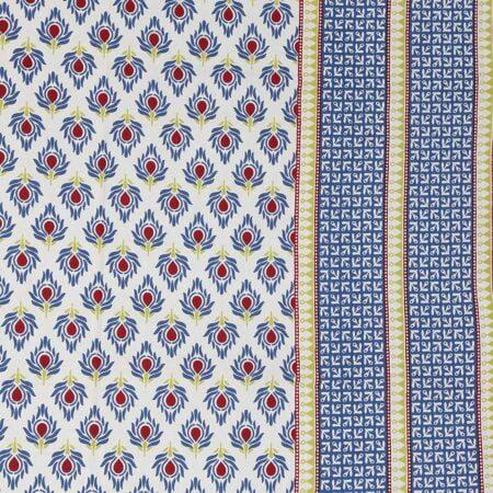 Traditional Sanganeri Print Brown Floral Design King Size Double Bed Sheet Closeup
