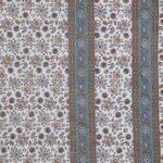 Traditional Sanganeri Print Brown Flowery Print King Size Double Bed Sheet Closeup