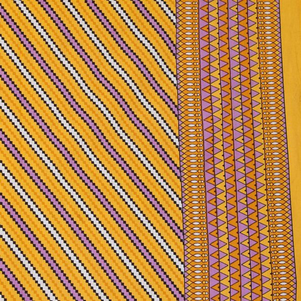 Traditional Sanganeri Print Dark Yellow color Pure Cotton Double Bedsheet Closeup