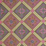 Traditional Sanganeri Print Pink color King Size Pure Cotton Double Bedsheet Closeup