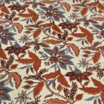 Beautifual Floral Print Ethnic Design Cotton Bedsheet Closeup
