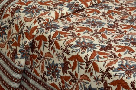 Beautifual Floral Print Ethnic Design Cotton Bedsheet View