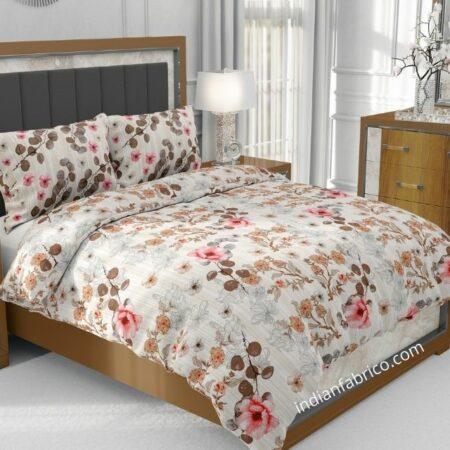 Beautiful Aroma Refreshing Red Flowers Jumbo Size Bedsheet